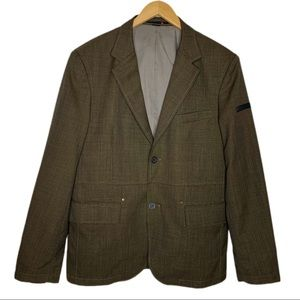 4You Olive Green Tweed Blazer 40R